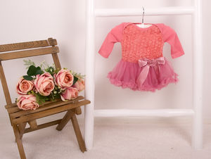 Baby Girls Rose Onesie Pettidress - dresses