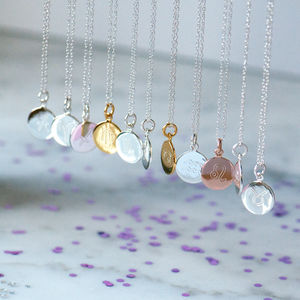 Libra Zodiac Sign Sterling Silver Necklace