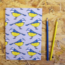 A5 Blue Tit Notebook With Blank Pages