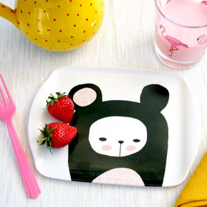 Bear Mini Melamine Tray - trays