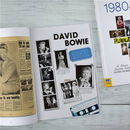 Personalised Music Of The Decade Newspaper Book