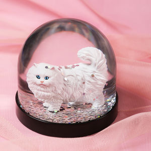 Snow Globe, White Cat
