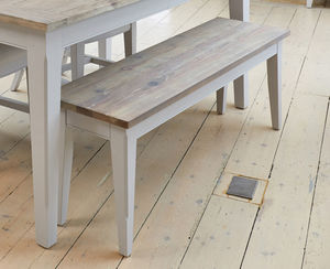 Ridley Grey Dining Bench Small