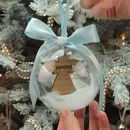 Personalised Remembrance Angel Christmas Bauble