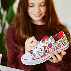 Comic Pattern Colour In Children's Shoes - gifts for children