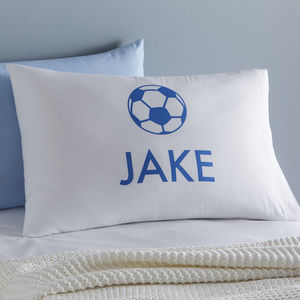 Personalised Football Pillowcase - bed, bath & table linen