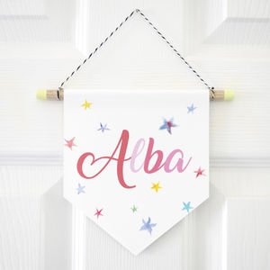 Personalised Name Wall Hanging Print - baby's room