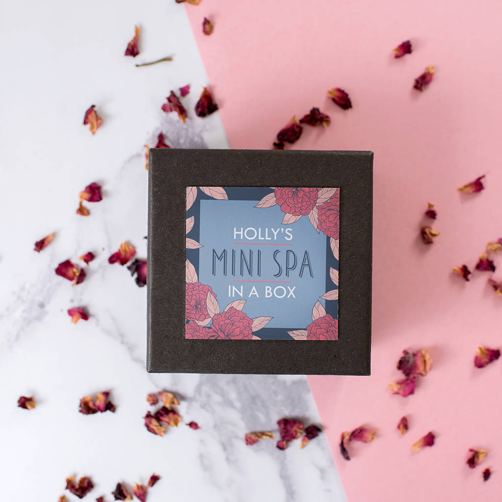 Personalised Mini Spa Gift Set In A Box By The Little Picture Company Notonthehighstreet Com