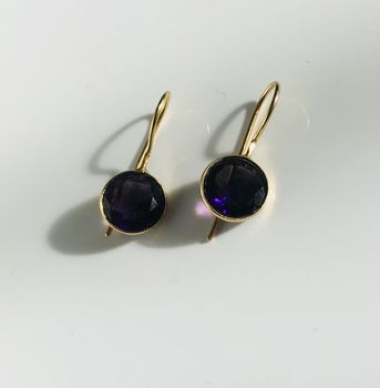 Amethyst Earrings Gemstone Earrings Gift For Her