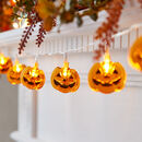 10 Halloween Pumpkin Fairy Lights