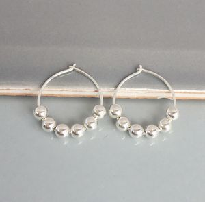 60th Birthday Silver Silver Beads Earrings - new in jewellery