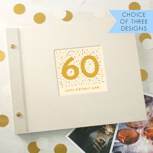 Personalised 60th Birthday Photo Album - photo albums