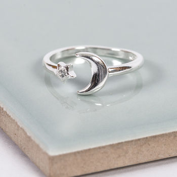 Sterling Silver Nights Sky Midi Ring