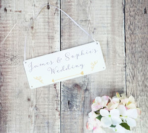 Personalised Classic Wedding Arrow Sign - shop by price
