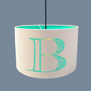 Personalised Plain Cotton Letter Lampshade - lampshades