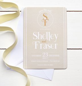Gold And White Wedding Invitation - invitations