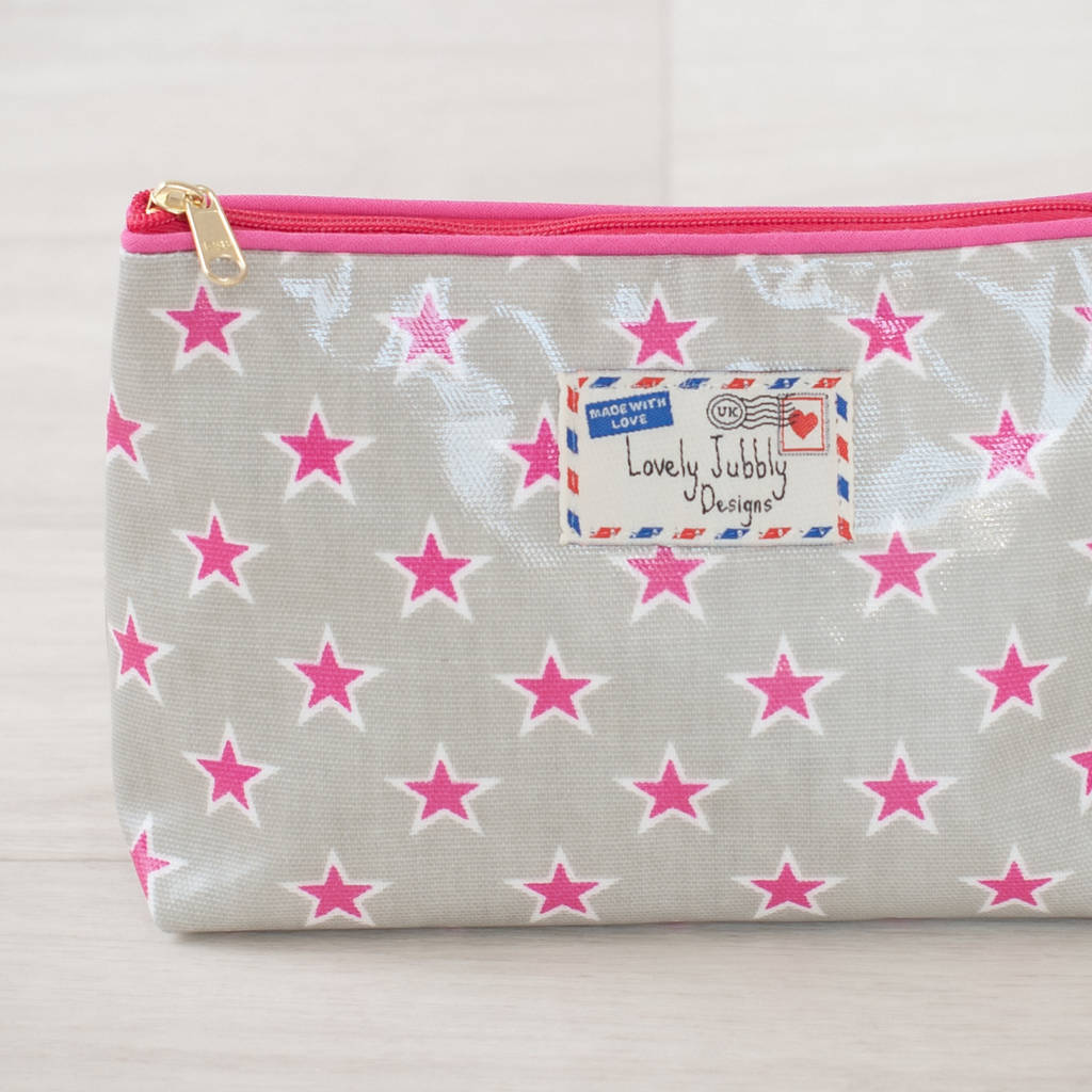 Stars Little Star Oilcloth Gift Makeup Cosmetic Bag