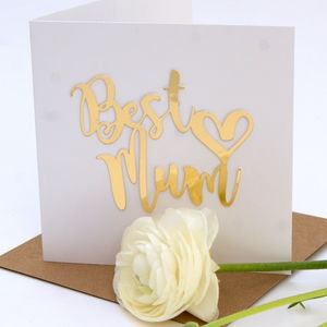 Birthday 'Best Mum' Card - mother's day cards