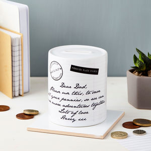 Personalised Message Ceramic Money Box - kitchen accessories