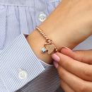 18ct Rose Gold Personalised Birthstone Ball Bracelet
