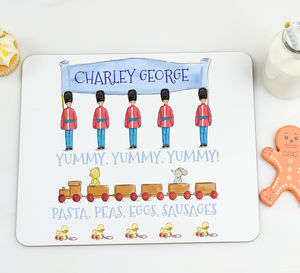 Boy's Personalised Placemat 'Toy solider' - kitchen