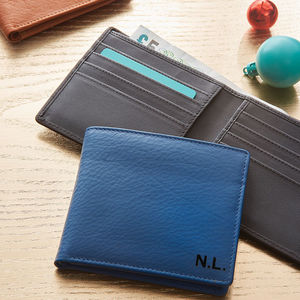 Men's Leather Billfold Wallet - gifts for him