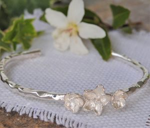 Sterling Silver Blossom Bangle - bracelets & bangles