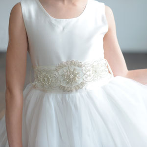 A Pure Silk Or Satin Flower Girl Dress