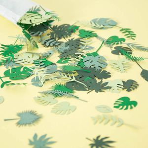 Tropical Jungle Leaf Table Confetti
