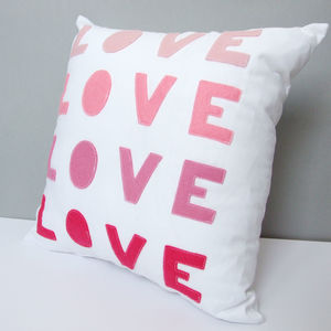 Ombre Love Cushion - gifts for her