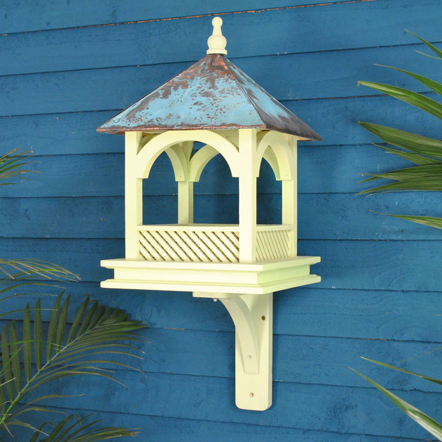 Large Chelsea Wall Mounted Bird Feeder Table By Garden
