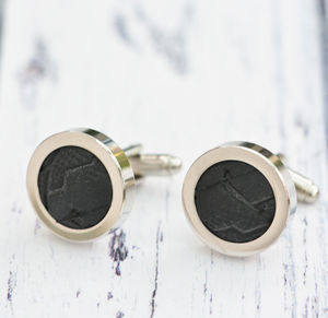 Genuine Bicycle Tyre Cufflinks - mens