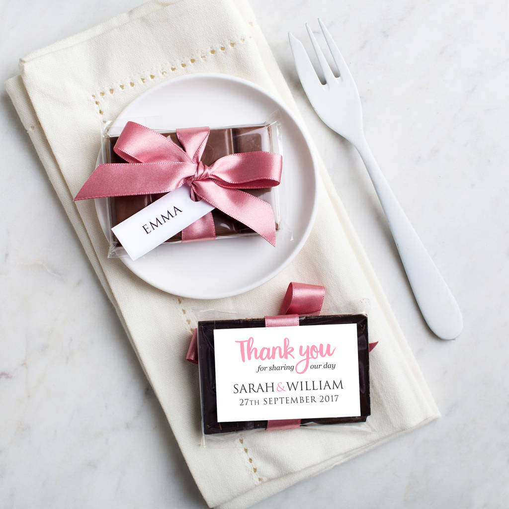 mini chocolate bar wedding favour by quirky gift library ...