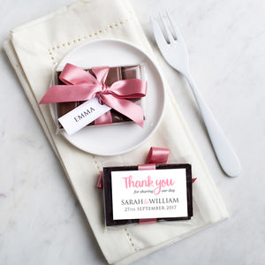 Mini Chocolate Bar Wedding Favour - edible favours