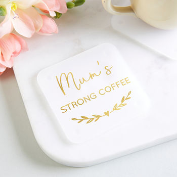 Coffee Gift Personalised Foil Coaster