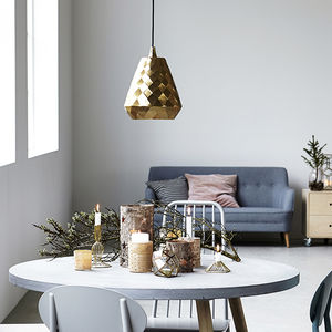 Aston Brass Geometric Pendant Light - lighting