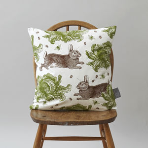 Classic Rabbit And Cabbage Cusion - cushions
