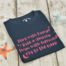 'Play With Fairies' Kids Slogan T Shirt