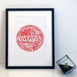 Liverpool Football Club Typography Print - activities & sports