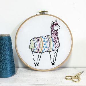 Alpaca Contemporary Embroidery Craft Kit - living & decorating