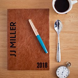 2018 Diary - Personalised - In Italian Luxury Leather