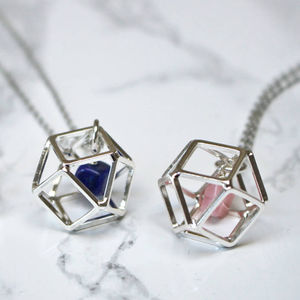 Geometric Birthstone Necklace - 18th birthday gifts