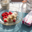 Raspberry And Coconut White Chocolate Truffles
