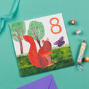 Squirrel 8th Birthday Card