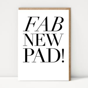 Fab New Pad! New Home Card