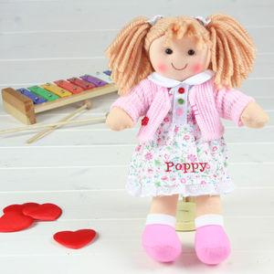 Personalised Rag Doll From Birth - soft toys & dolls