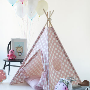 Kids Teepee Tent Set Pink & Teepee and Wigwams for Kids and Children | notonthehighstreet.com