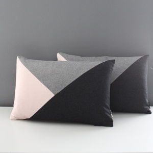 Rectangular Triangle Patchwork Cushion