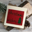 Felt Christmas Wishes Card