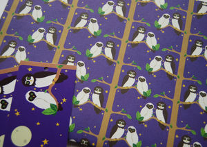 'Owl Wrapping Paper', Owl Gift Wrap